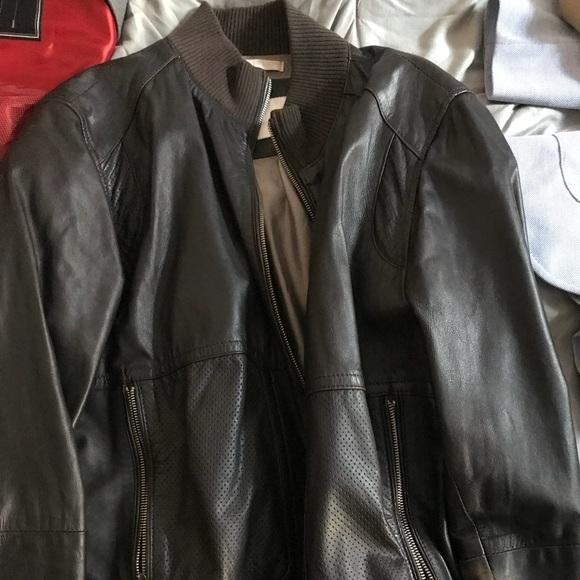 Zara Jackets Coats Mens Faux Leather Dark Brown Jacket Poshmark